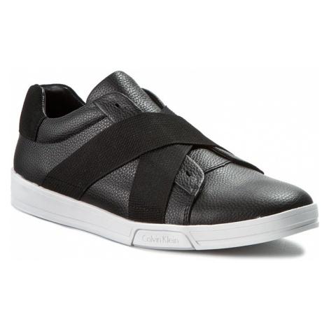 Półbuty CALVIN KLEIN - Baku Tumbled Leather F0798 Blk Black