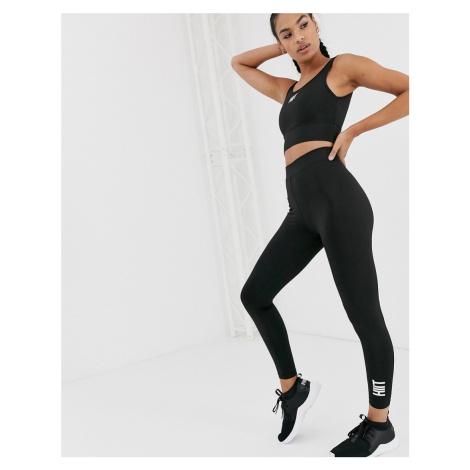 HIIT side stripe leggings in black