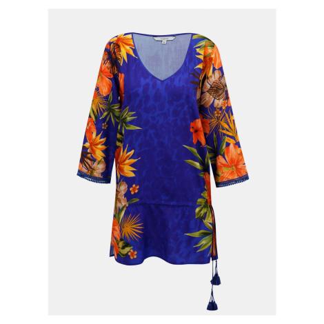 Desigual niebieska bluzka w kwiaty