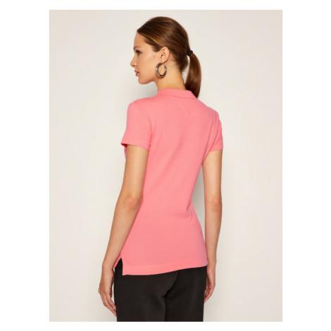 TOMMY HILFIGER Polo Short Sleeve WW0WW27947 Różowy Slim Fit