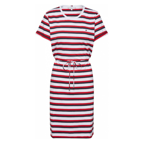 TOMMY HILFIGER Sukienka 'Angela' czerwony / biały / kobalt niebieski