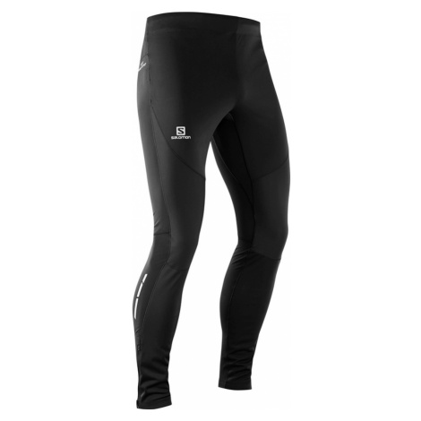 Legginsy Salomon Trail Runner Windstopper Tight M Czarne