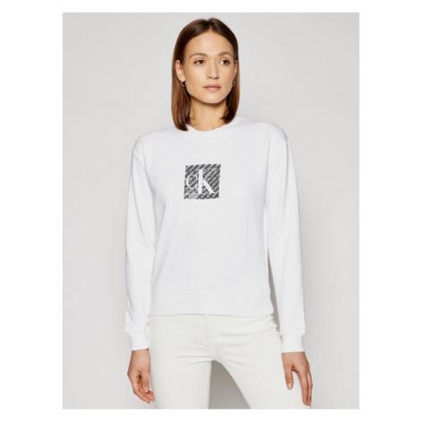 Calvin Klein Jeans Bluza J20J215566 Biały Regular Fit