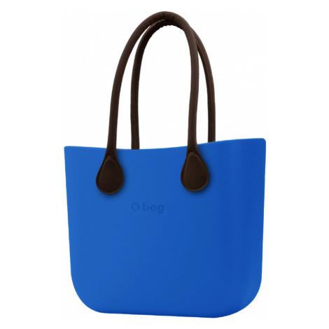 O bag torebka Imperial Blue z długimi brązowymi uchwytami ze skajki