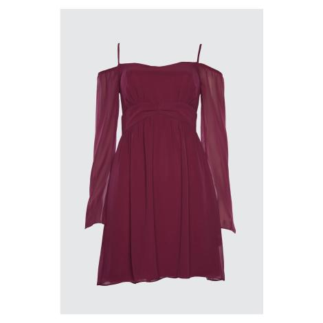 Trendyol Medum Korsaj Szczegółowa szyfonowa sukienka