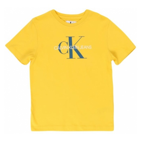 Calvin Klein Jeans Koszulka 'MONOGRAM LOGO REGULAR TEE' cytrynowy