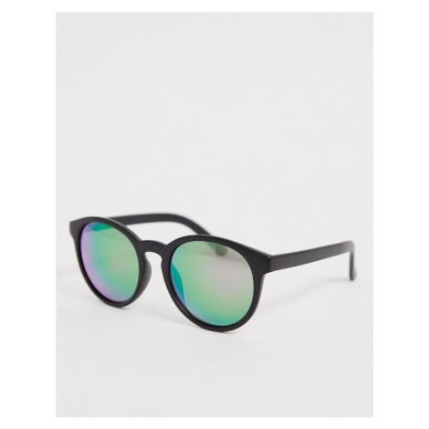 ASOS DESIGN fine frame round sunglasses