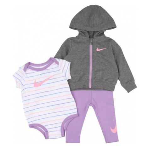 Nike Sportswear Zestaw fioletowy / biały / ciemnoszary / liliowy