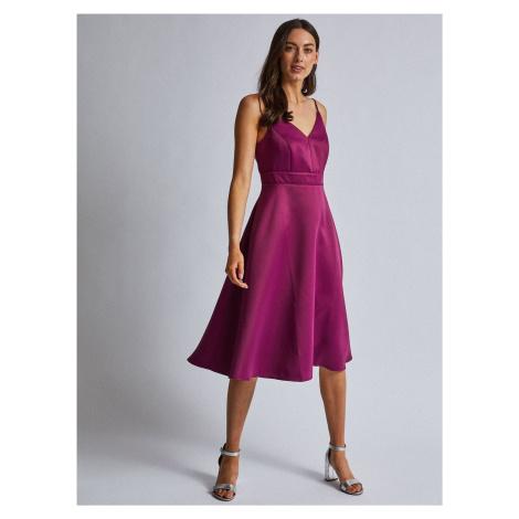 Fioletowa sukienka na wieszakach Dorothy Perkins