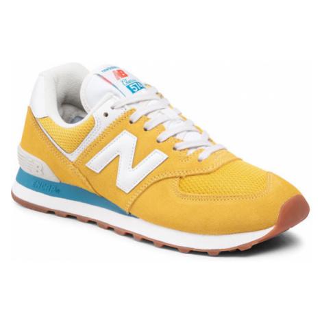 New Balance Sneakersy ML574HB2 Żółty