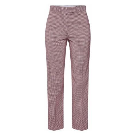 Calvin Klein Spodnie 'POP GINGHAM CIGARETTE PANT' czerwony
