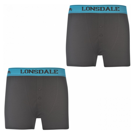 Lonsdale 2 Pack Boxers Junior