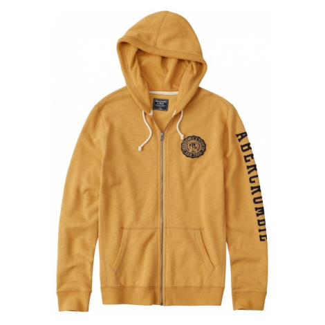 Abercrombie & Fitch Bluza rozpinana 'CORE LOGO FULLZIP YELLOW' żółty
