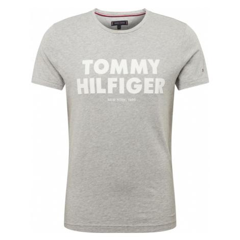 TOMMY HILFIGER Koszulka jasnoszary / biały