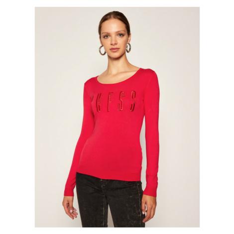 Guess Sweter Pam W0BR0N Z2NQ0 Czerwony Regular Fit