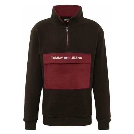 Tommy Jeans Bluzka sportowa burgund / czarny / biały Tommy Hilfiger