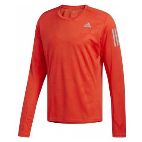 adidas RS LS TEE M RE czerwony M - Koszulka do biegania męska