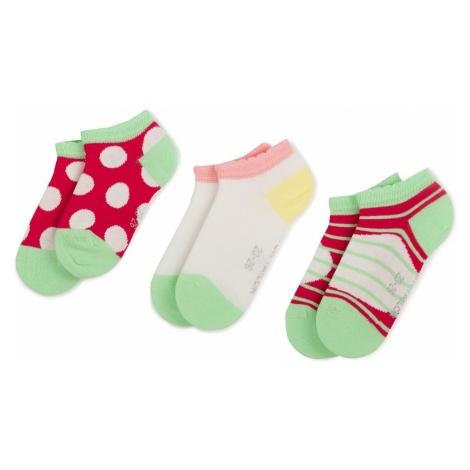 Zestaw 3 par niskich skarpet dziecięcych TOM TAILOR - 93101 Pink 710