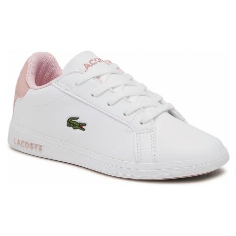 Sneakersy LACOSTE - Graduate 0721 1 Suc 7-41SUC00061Y9 Wht/Lt Pnk