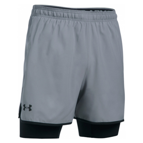 Spodenki Under Armour UA Qualifier 2IN1 Short M Szare