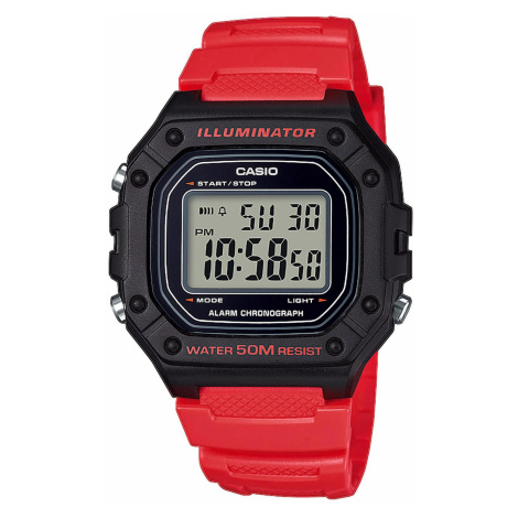 Zegarek CASIO - Heavy Duty W-218H-4BVEF Red/Black