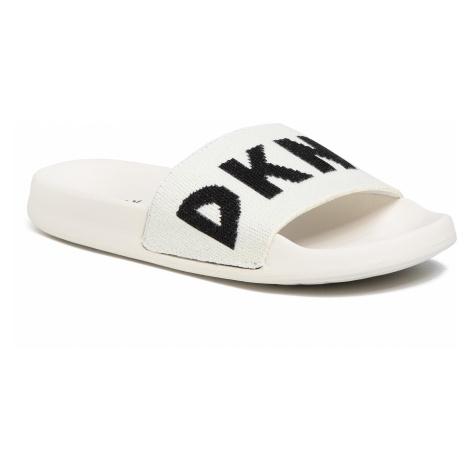Klapki DKNY - Zax K1031226 Velcro Fab/Logo Wht/Black Whb