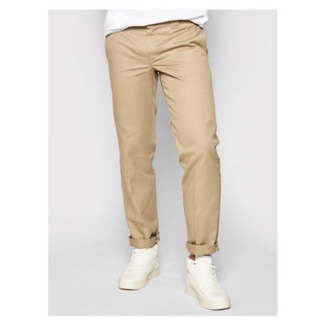 Dickies Spodnie materiałowe Straight Work DK0WP873 Zielony Slim Fit