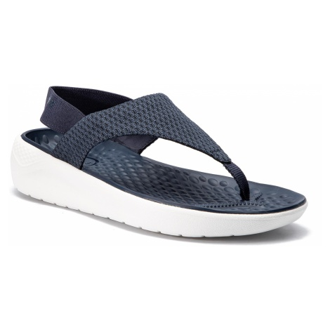 Sandały CROCS - Literide Mesh Flip W 205477 Navy/White