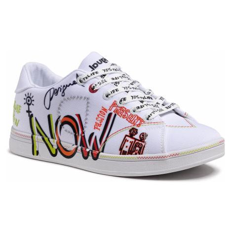 Sneakersy DESIGUAL - Cosmic Text 21SSKA07 1000