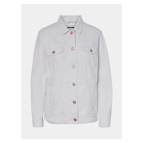 Biała jeansowa kurtka Noisy May Ole