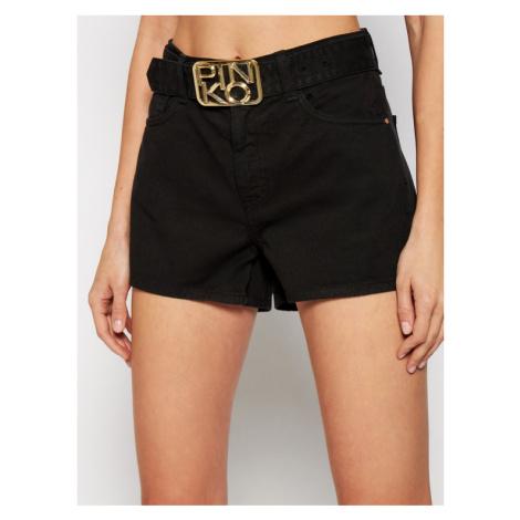 Pinko Szorty jeansowe Brooklyn PE 21 PDEN 1J10N1 Y652 Czarny Regular Fit