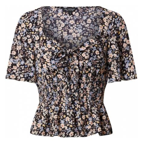 Miss Selfridge Koszulka 'SHIRRED DITSY TOP' czarny