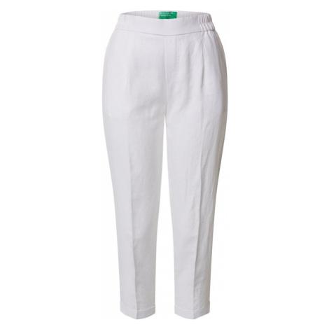UNITED COLORS OF BENETTON Spodnie w kant biały