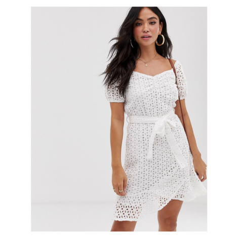 Influence milk maid dress in broderie anglaise
