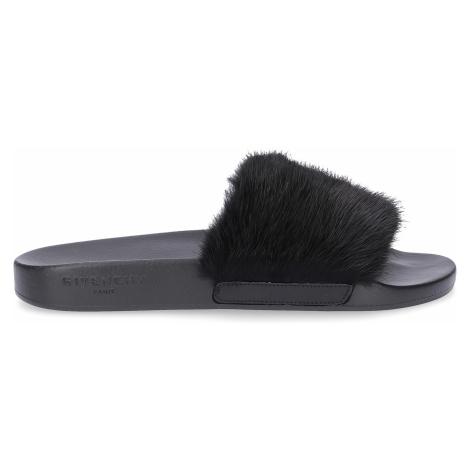 Givenchy - Buty Sandały SLIDE kauczuk Logo czarny