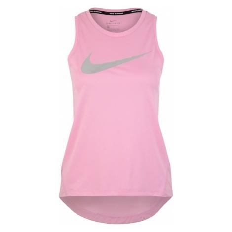 NIKE Top sportowy 'Nike Miler' różowy pudrowy / srebrny