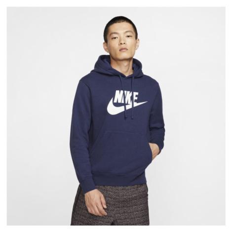 Męska bluza z kapturem i grafiką Nike Sportswear Club Fleece - Niebieski
