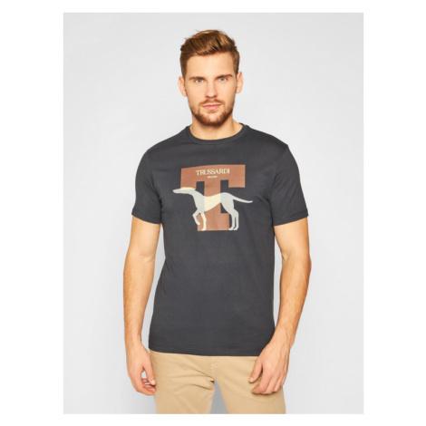 Trussardi Jeans T-Shirt 52T00432 Granatowy Regular Fit