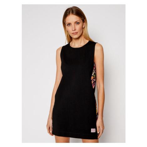 Versace Jeans Couture Sukienka codzienna D2HWA433 Czarny Regular Fit