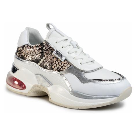 Sneakersy KARL LAGERFELD - KL61727 White Lthr/Textile