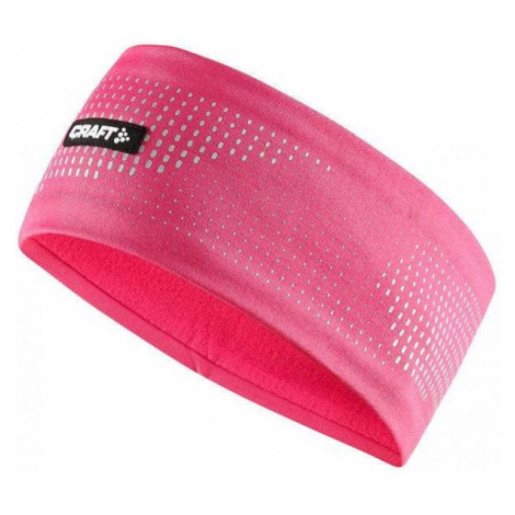 Craft BRILLIANT 2.0 HEADBAND różowy S/M - Opaska funkcjonalna do biegania