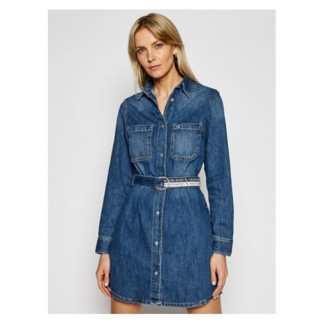 Calvin Klein Jeans Sukienka jeansowa J20J215442 Niebieski Loose Fit
