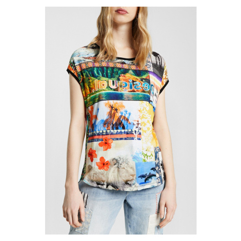 Desigual kolorowa koszulka oversize TS Safari