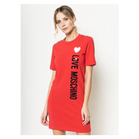 LOVE MOSCHINO Sukienka codzienna W5A0212M 4165 Czerwony Regular Fit