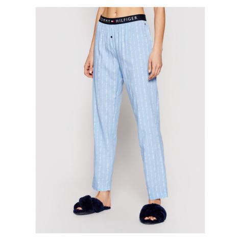 Tommy Hilfiger Spodnie piżamowe Woven Print UW0UW02604 Niebieski