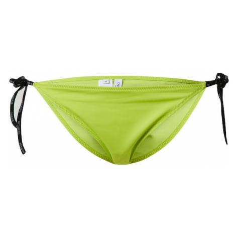 Calvin Klein Swimwear Dół bikini 'CHEEKY' neonowa zieleń