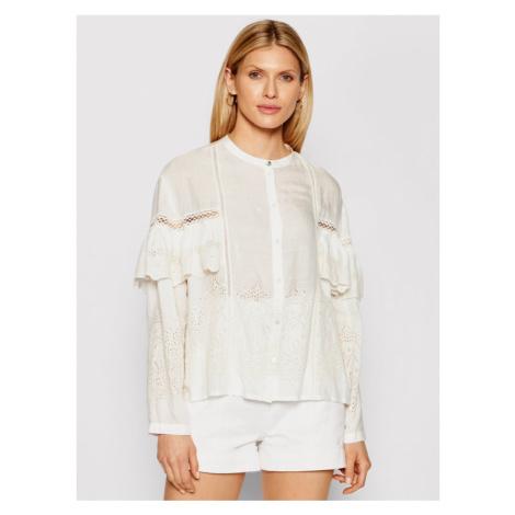 Patrizia Pepe Koszula 2C1246/A8X9-W146 Biały Regular Fit