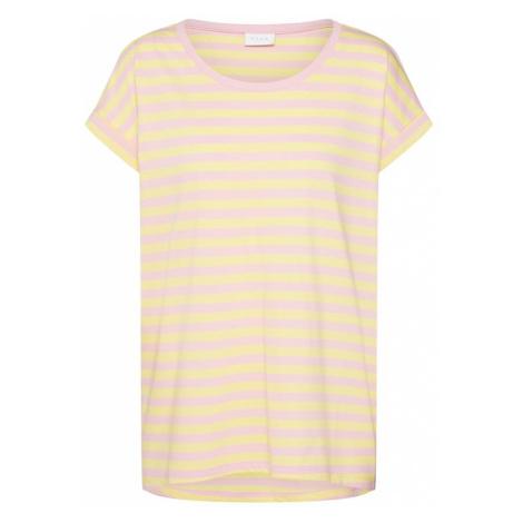 VILA Koszulka 'Dreamers' żółty / różowy pudrowy