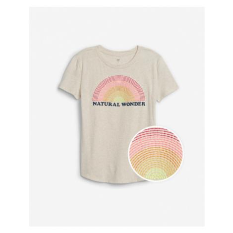 GAP Koszulka dziecięce Beżowy