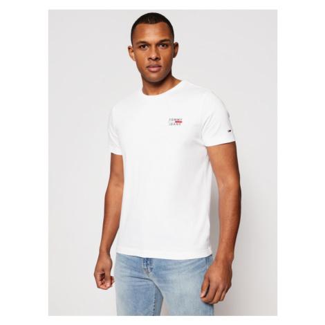 Tommy Jeans T-Shirt Chest Logo DM0DM10099 Biały Slim Fit Tommy Hilfiger